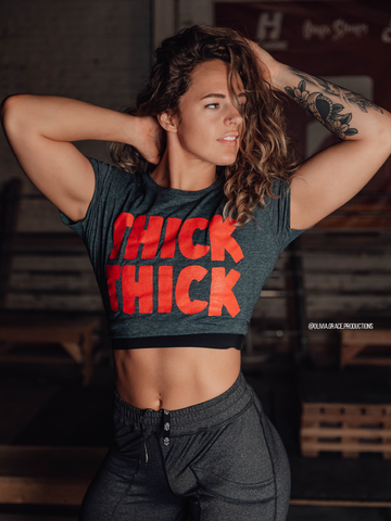 'THICK THICK' | Women's Crop Tee