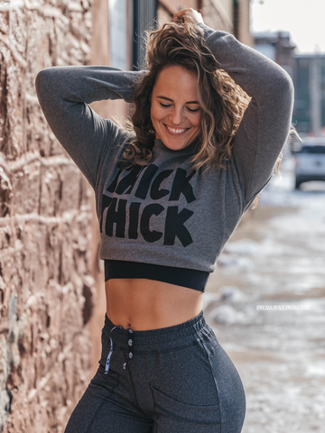 'THICK THICK' | Women's Cropped Crew