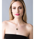 Onyx Circle Necklace