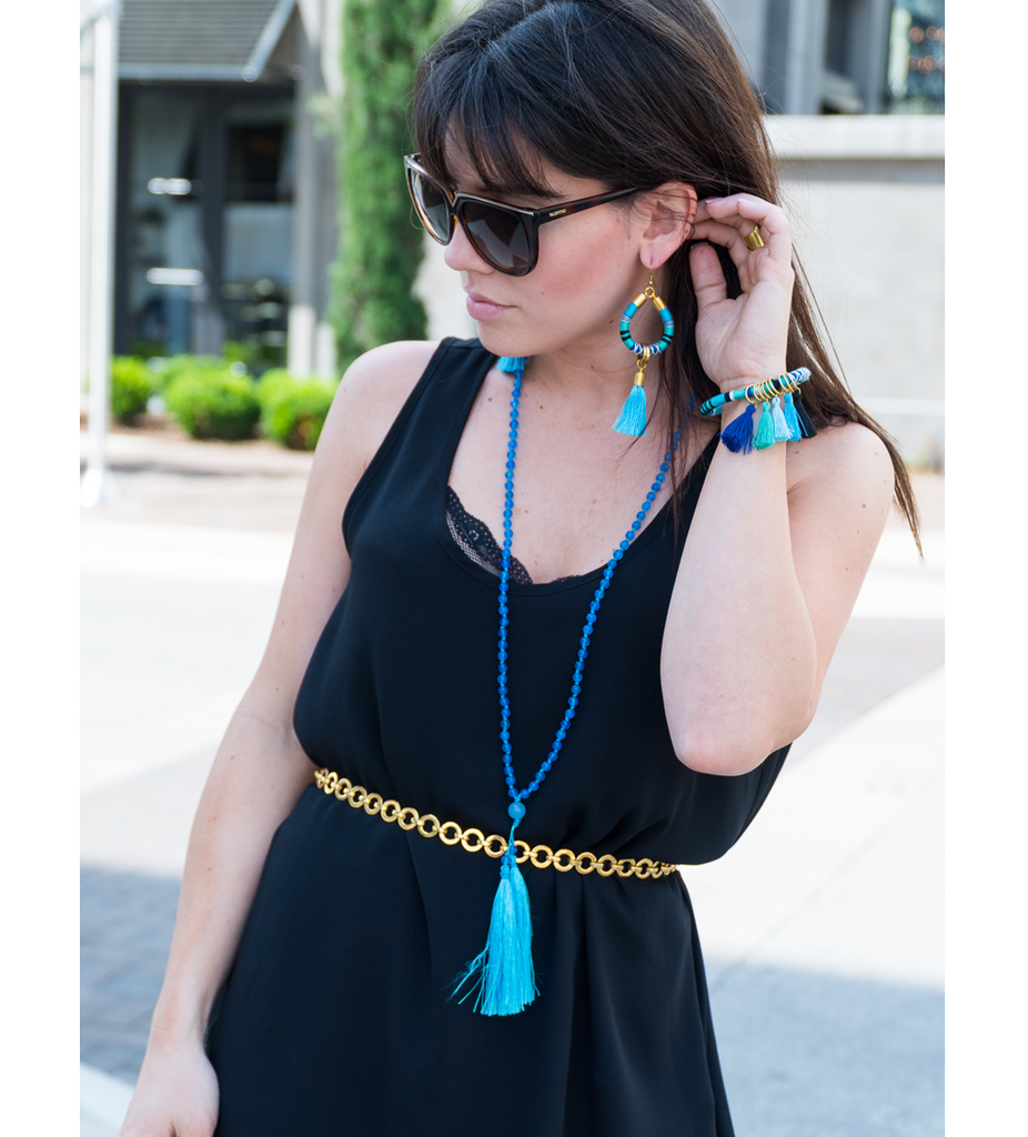 Azul Tassel Drop Earrings