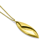 Brass Twisted Pendant