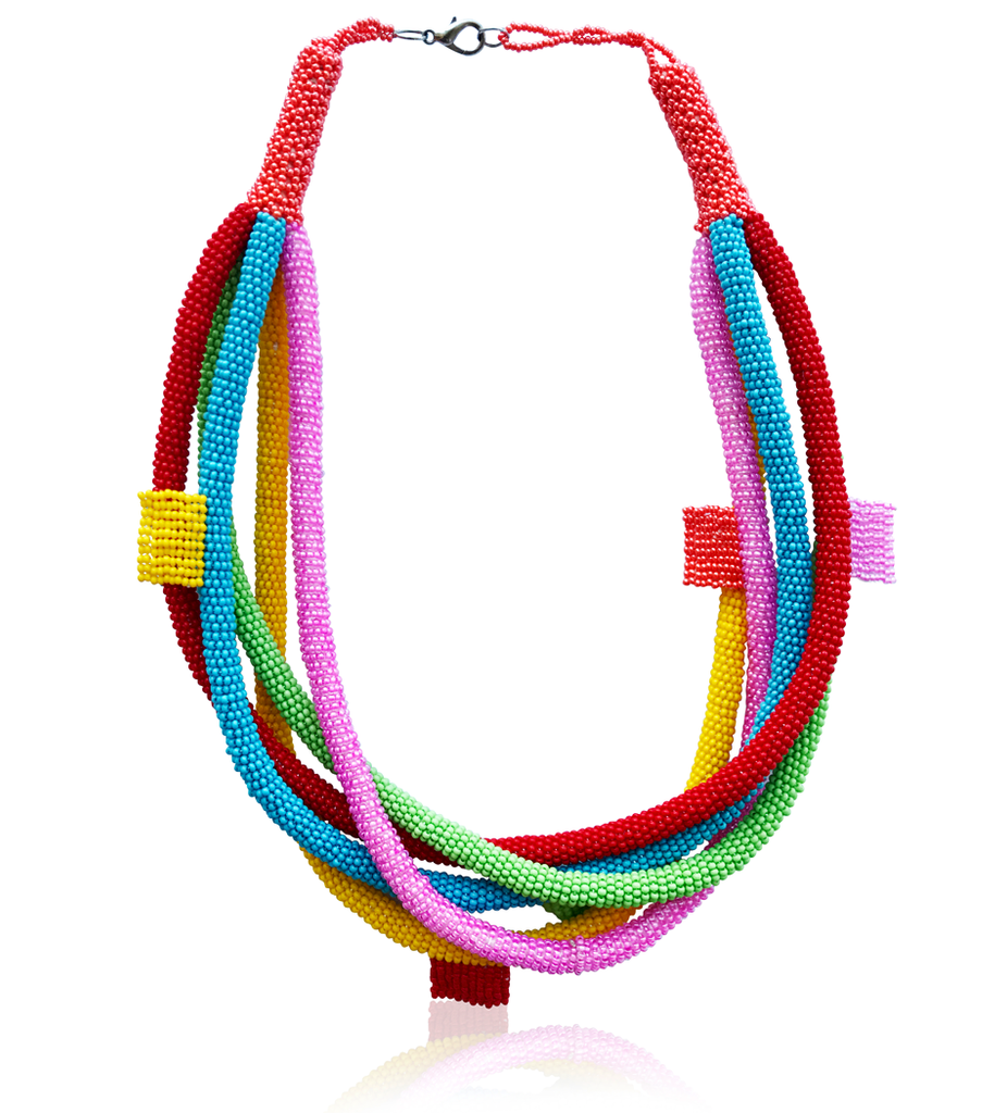 Candy Color Multi-Strand Bib