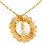 Citrine Circle Necklace