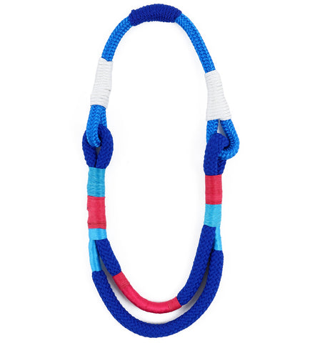 Diani Beach Blue Rope Necklace
