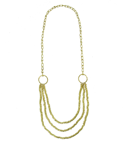 Brass Tiered Necklace