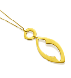 Yellow Gold Open Pendant