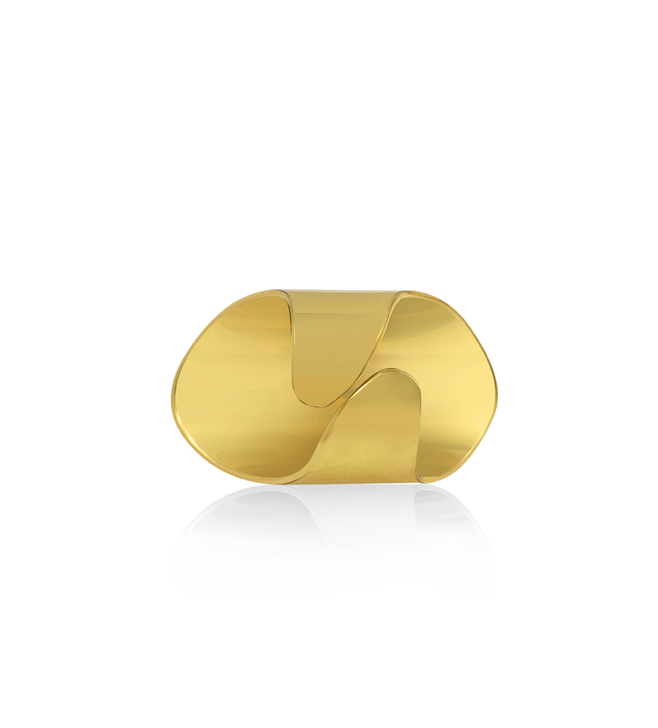 Yellow Gold Twisted Knuckle Ring