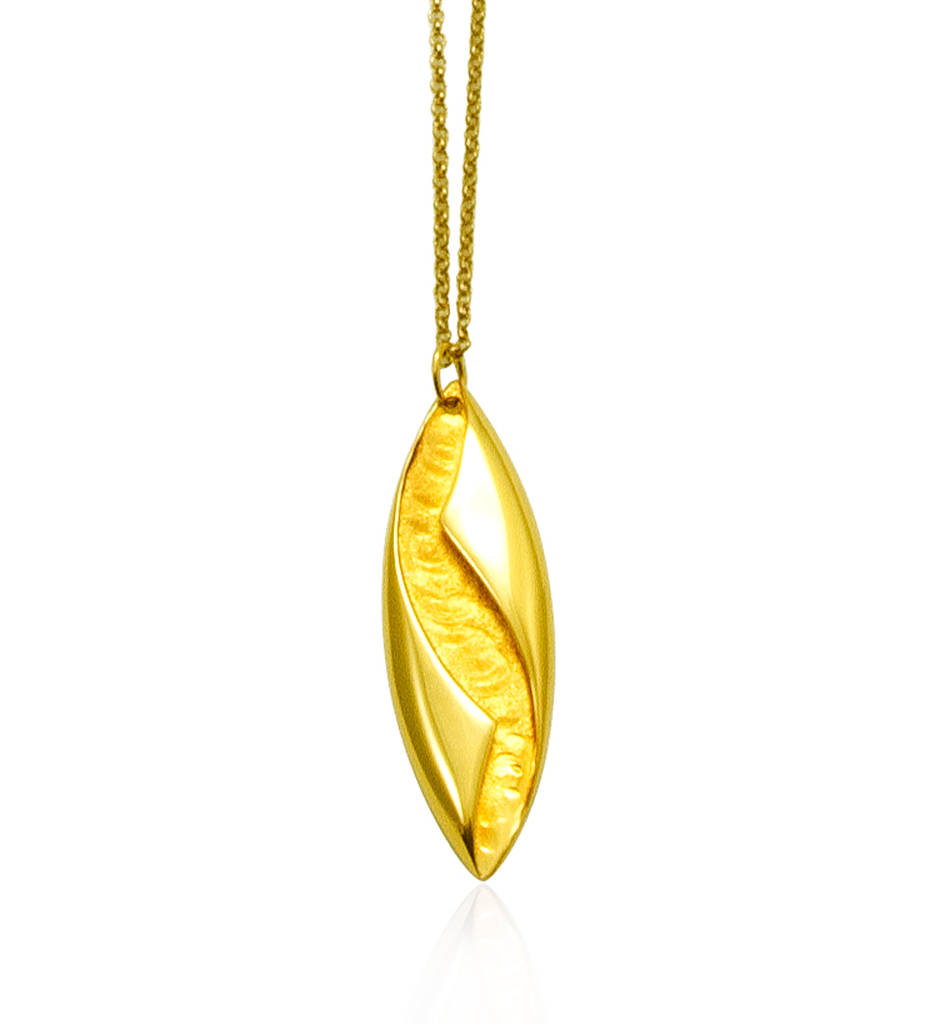 Yellow Gold Twisted Pendant