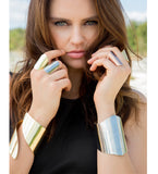 Brass Twisted Statement Cuff