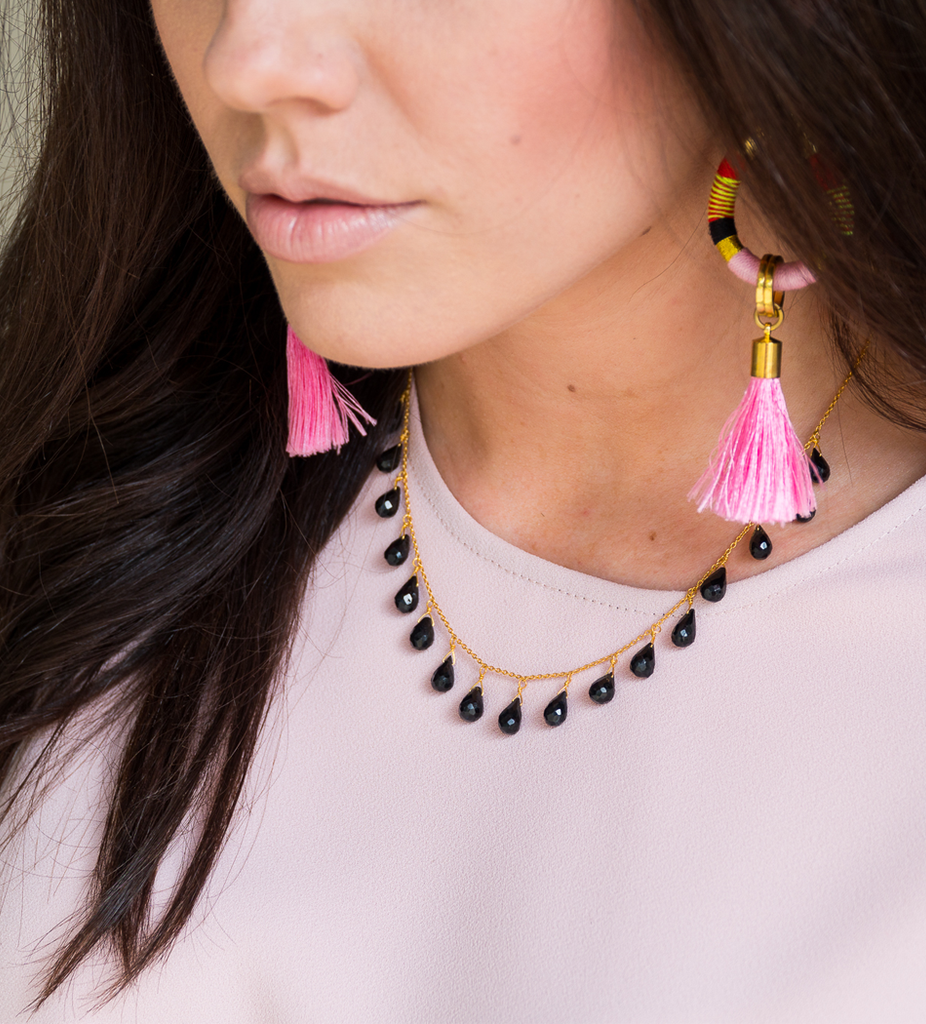 Flamingo Tassel Drop Earrings