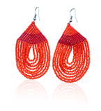 Fire Bead Drop Earrings