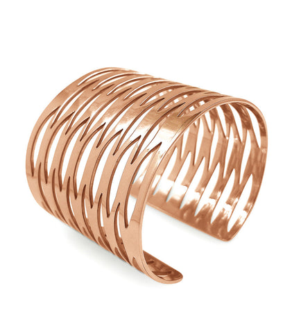 Rose Gold Geometric Cuff
