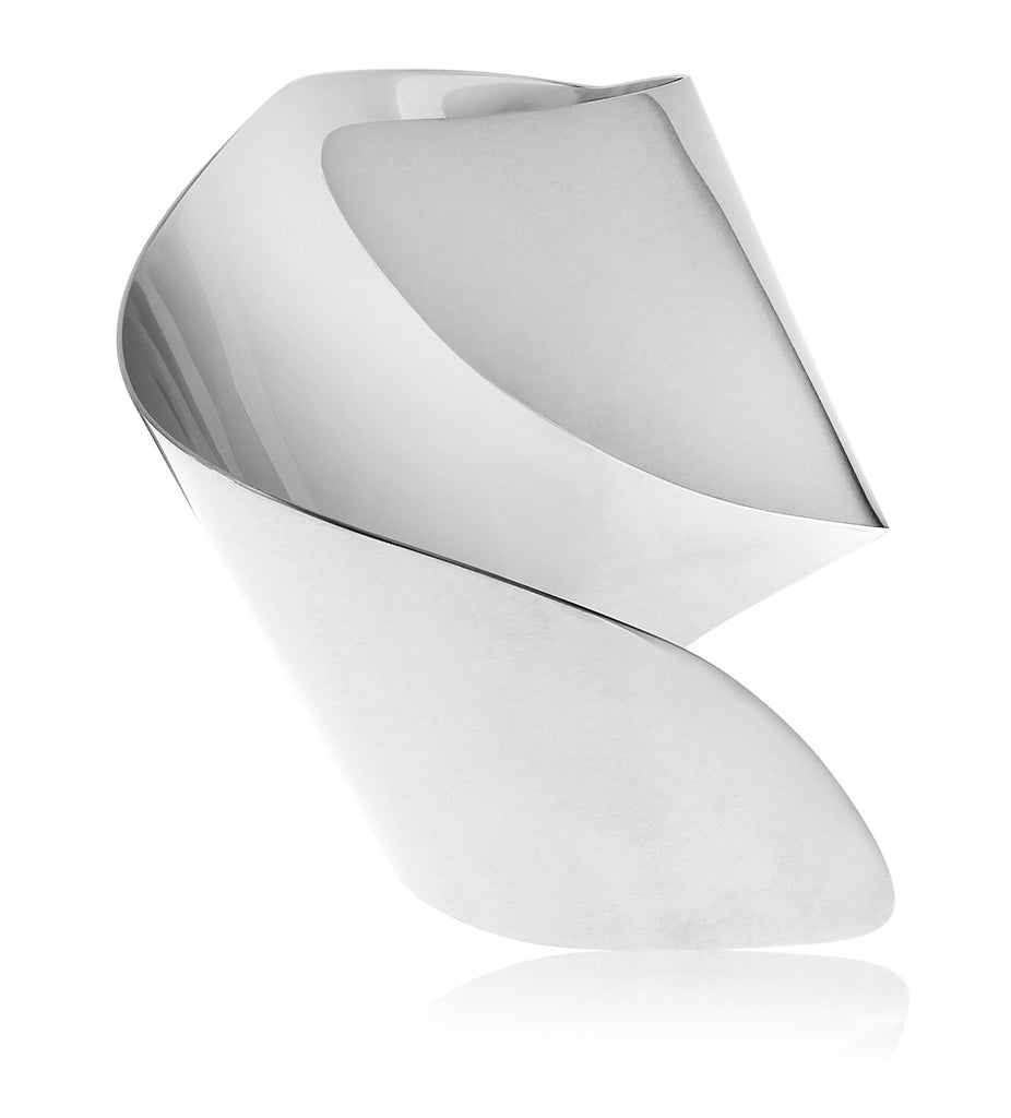 Silver Twisted Statement Cuff