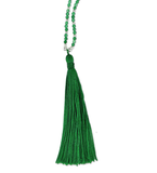 Green Agate Small Tassel Necklace
