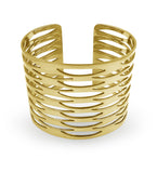 Yellow Gold Geometric Cuff