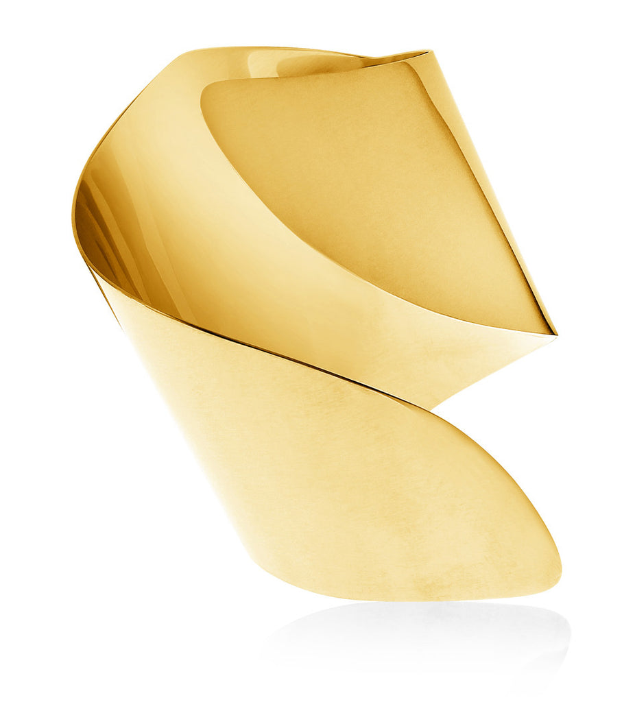 Yellow Gold Twisted Statement Cuff