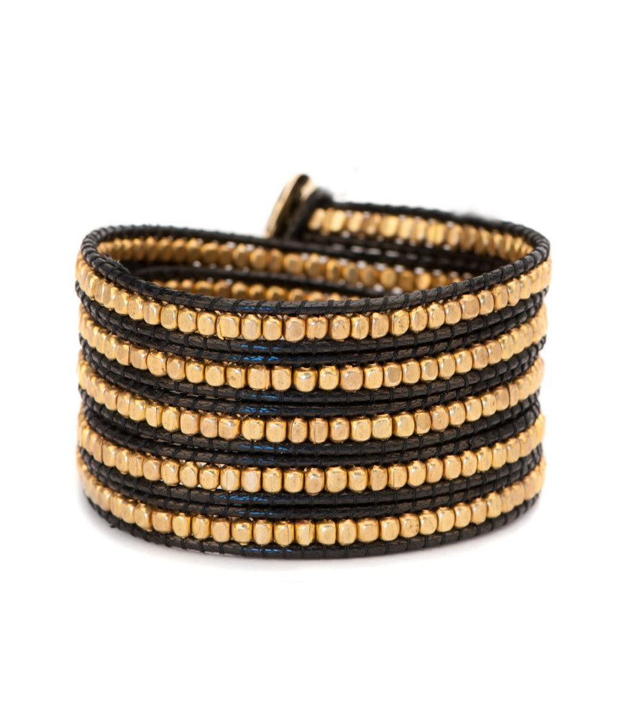 Black and Gold Classic Wrap