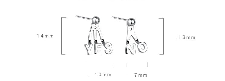 yes or no earrings
