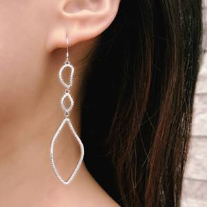 Rose Gold Plated Sterling Silver Drop Earrings for Women