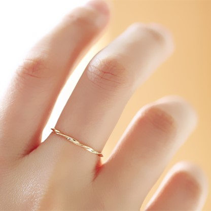 9K Solid Gold Classic design Ring Jewelry for girls 2