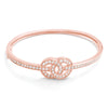 Charming CZ Rose Gold Plated Silver Infinity Bangle