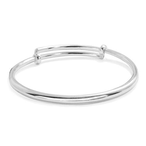 Adjustable Silver Thick Bangle