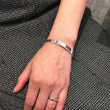 High Polished 999.9 Pure Silver Bangle B