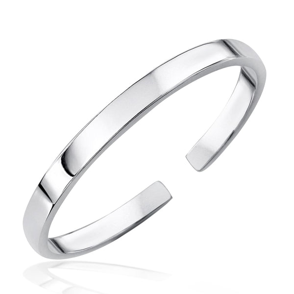 High Polished 999.9 Pure Silver Bangle