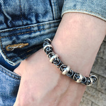 Solid Sterling Silver Fashion Men Bracelet 2