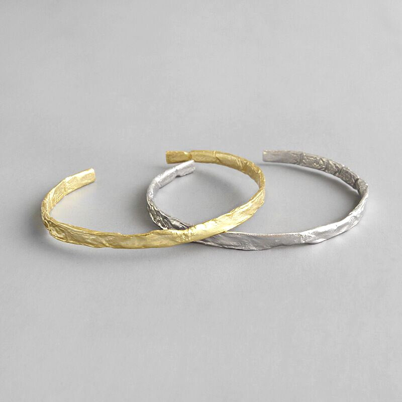 Handmade Sterling Silver Hammered Bangle