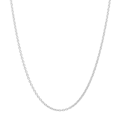 Sterling Silver Cable Chain 16 Inch + 2 Inch Extender - Jewelry - Prjewel.com - 1