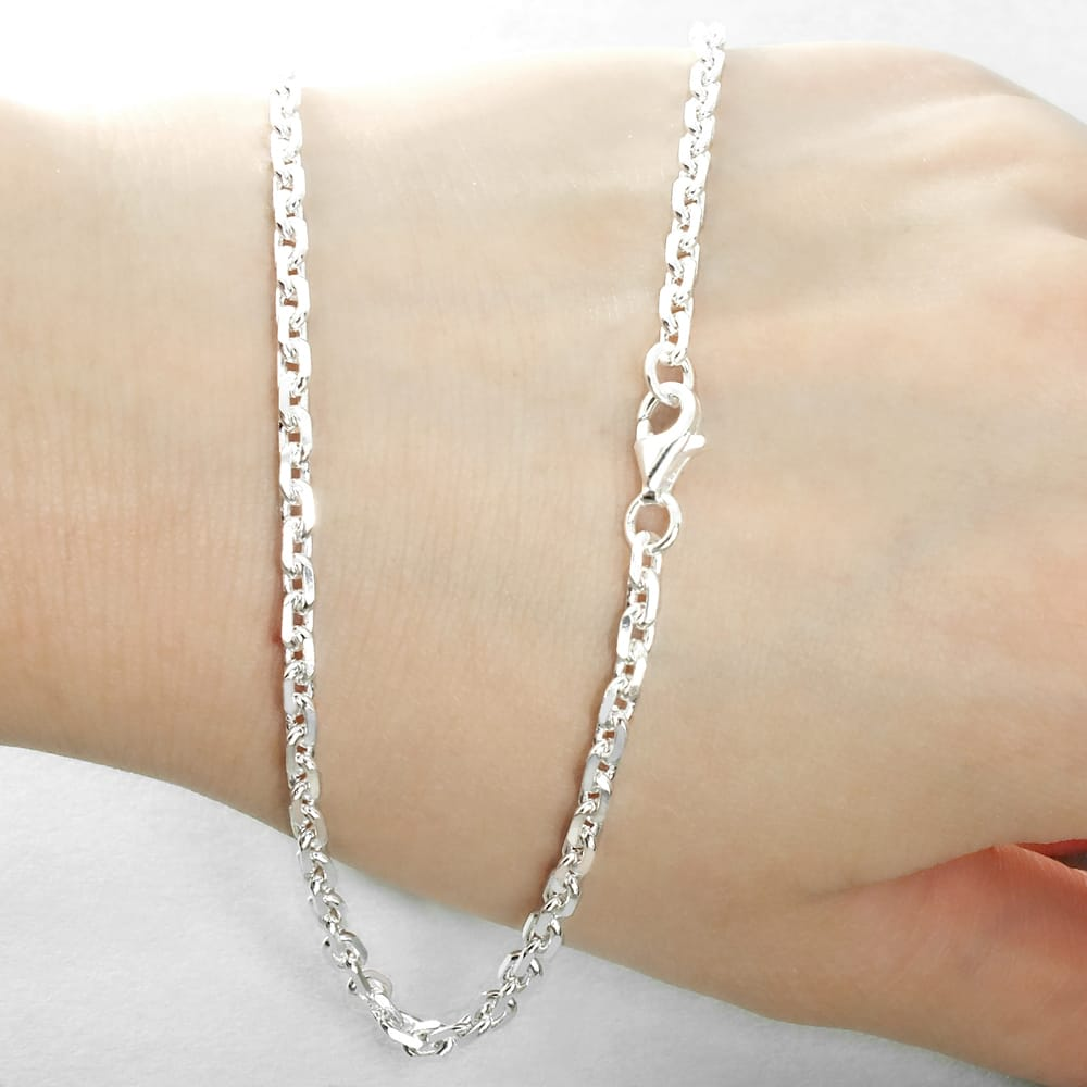 Sterling Silver 3mm Diamond Cut Cable Chain B