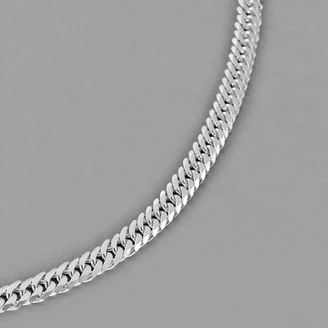 Italian Sterling Silver Diamond Cut Mens Chain Necklace