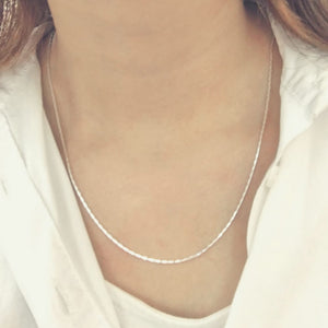 High Polished Diamond Cut Sterling Silver Chain