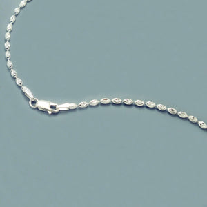 Sterling Silver 3MM Italian Oval Bead Chain