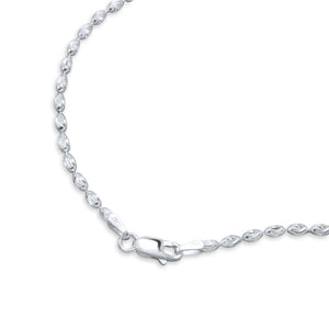 Sterling Silver 3MM Italian Oval Bead Chain 3