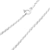 Italian Sterling Silver 1mm Rope Chain Necklace
