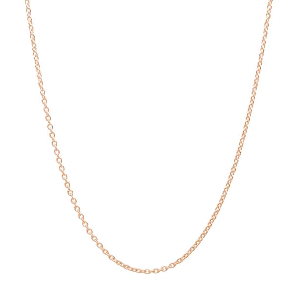 CZ Rose Gold Plated Sterling Silver Little Girl Necklace 3