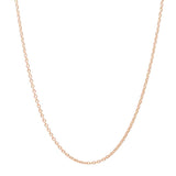 Rose Gold Over 925 Silver Cable Chain 16 Inch + 2 Inch Extender - Jewelry - Prjewel.com - 1
