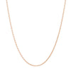 Rose Gold Over 925 Silver Cable Chain 16 Inch + 2 Inch Extender