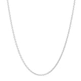 "Classic 925 Sterling Silver CZ Pendant Necklace 16""+ 2"" - Jewelry - Prjewel.com - 2"