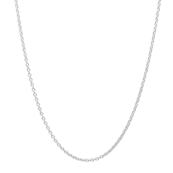 "Classic 925 Sterling Silver 0.45 Carat Cubic Zirconia Necklace 16""+ 2"" Extender - Jewelry - Prjewel.com - 2"