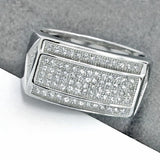 Beautiful Elegant Micro Pave Setting Cubic Zirconia 925 Sterling Silver Ring - Jewelry - Prjewel.com - 1