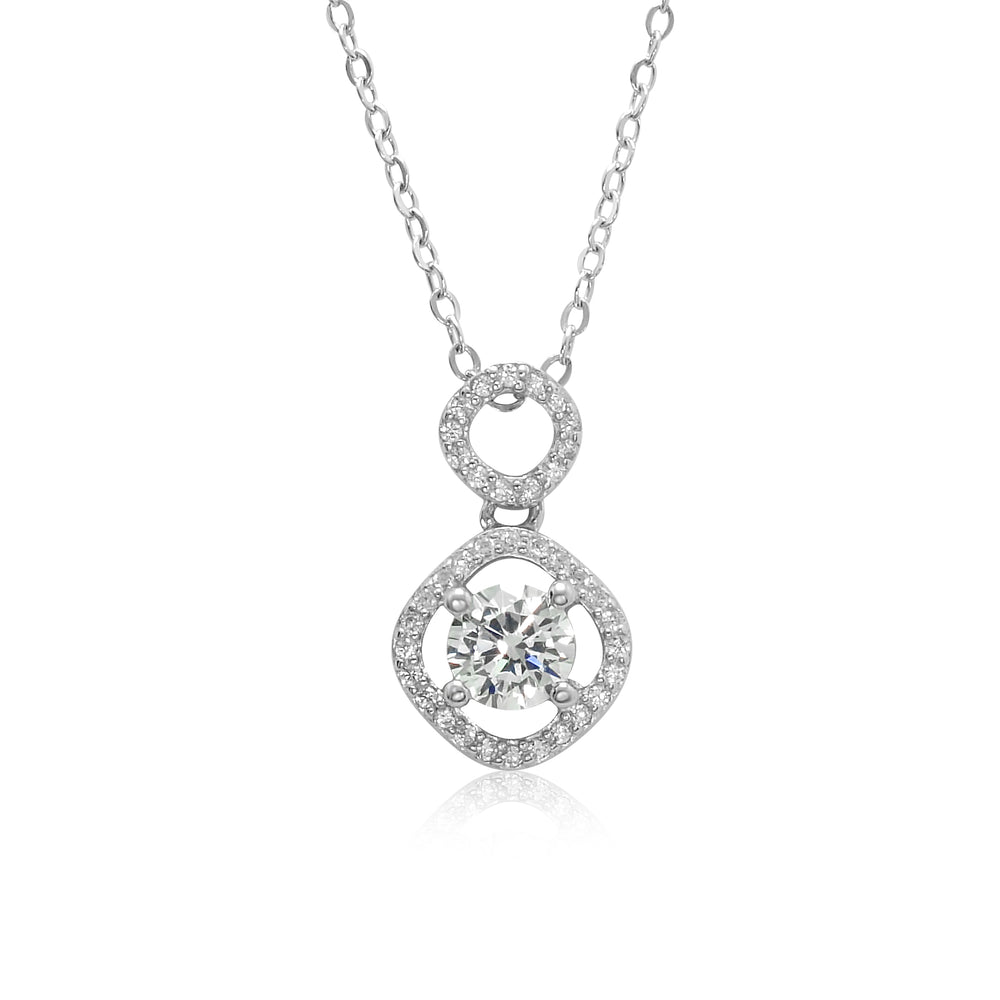 Sterling Silver CZ Fashion Necklace for Women,Girls,Teens