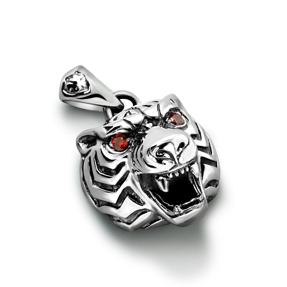 Sterling Silver Tiger Pendant for Men