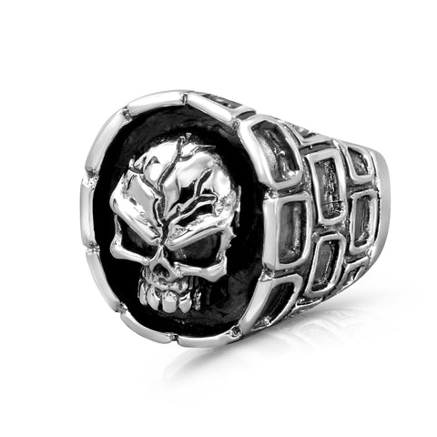 Sterling Silver Skull Rings for Men