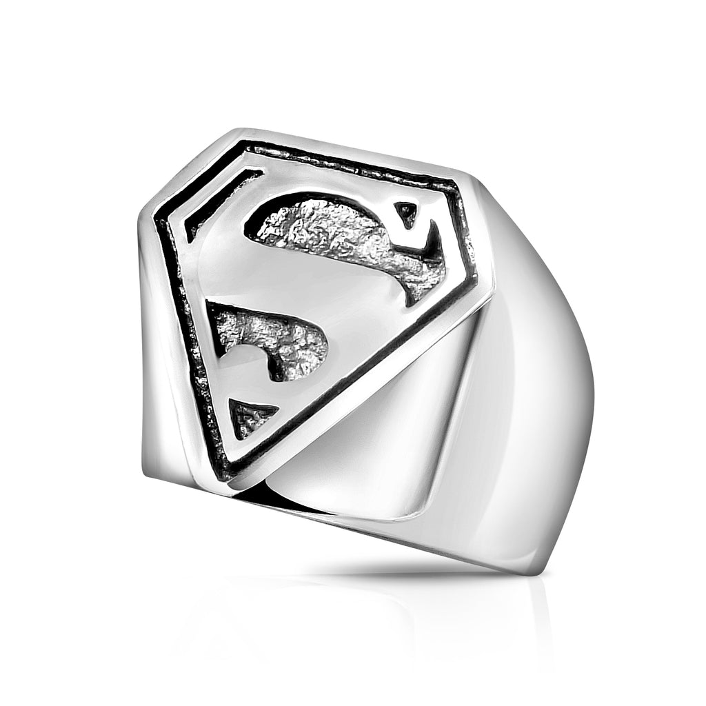 Sterling Silver Superman Ring 3