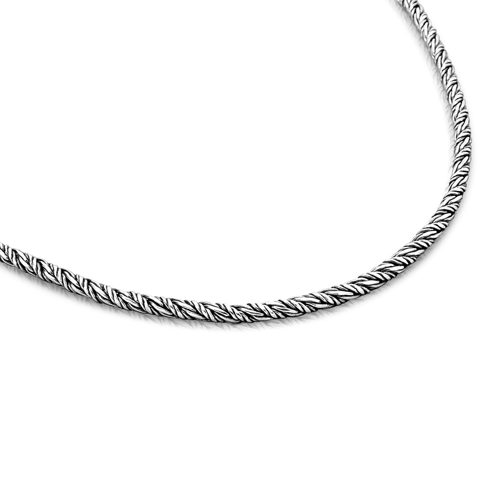 Solid Sterling Silver 3.5mm Infinity Rope Chain Necklace 2