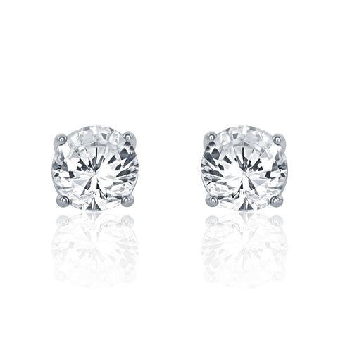Sterling Silver 1.6 Carat Cubic Zirconia Earrings - Jewelry - Prjewel.com - 1