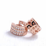Beautiful Rose Gold Plated Silver 1.25 Ct Cubic Zirconia Hoop Earrings - Jewelry - Prjewel.com - 2